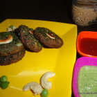 Hara Bhara Kebab With Green Chickpeas Dip