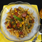 Twisted Pasta with Punjabi Tadka