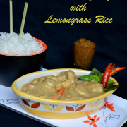 Red Thai Veg Curry and Thai Lemongrass Rice
