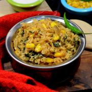 Spinach and Corn Pulao