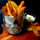 Baked Spicy Potato Wedges | Vegan Recipe