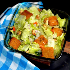 Lettuce Salad with Croutons