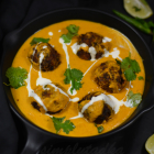 Papite Ke Kofte Recipe | Fried Raw Papaya Balls in Tomato Onion Gravy