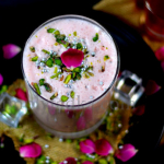 Rose Lassi | Sweet Rose Lassi Recipe