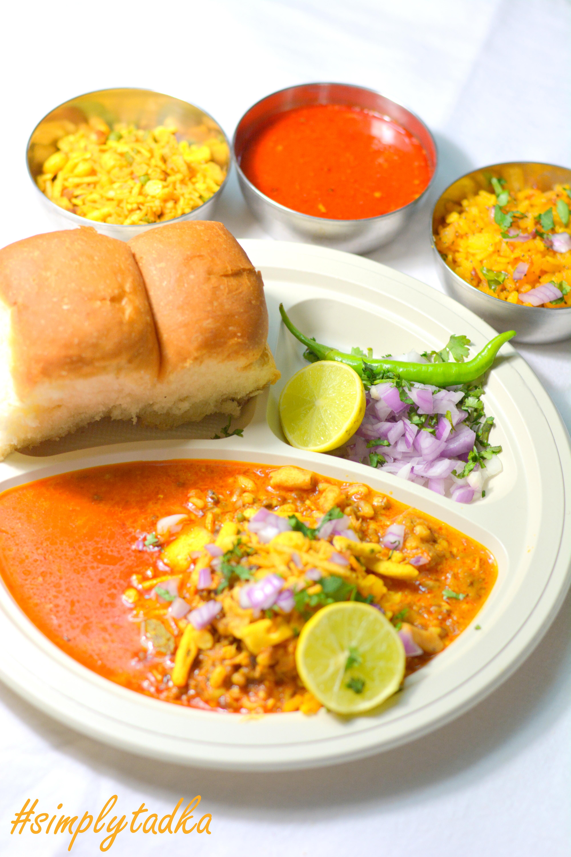 Typical Maharashtrian Spicy Misal Pav Recipe in Marathi ...  Misal Pav Recipe In Marathi